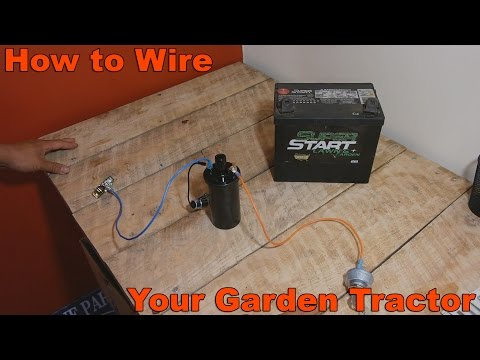 [DIAGRAM_38DE]  How to Wire Your Old Garden Tractor w/ Battery Ignition and Stator Charging  - YouTube | Basic Garden Tractor Wiring |  | YouTube