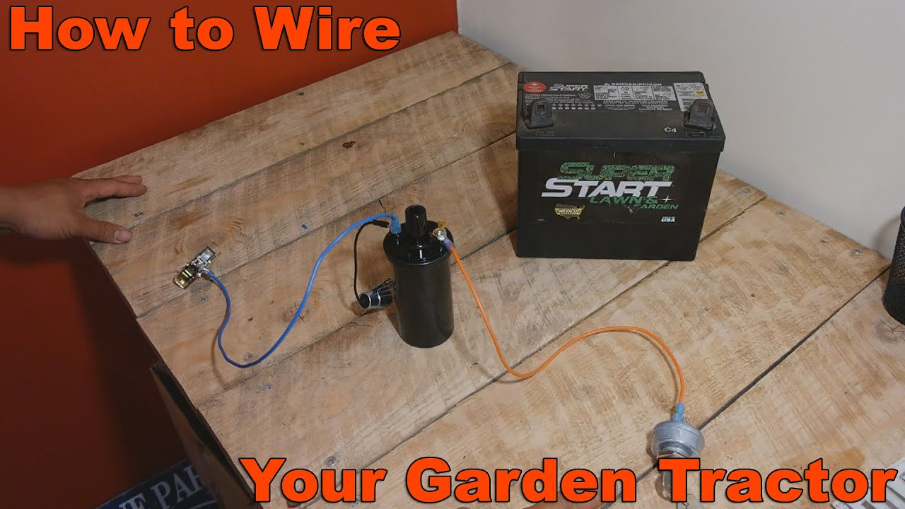 How To Wire Your Old Garden Tractor W Battery Ignition And Stator Ford Lgt 125 Wiring Diagram Youtube Premium