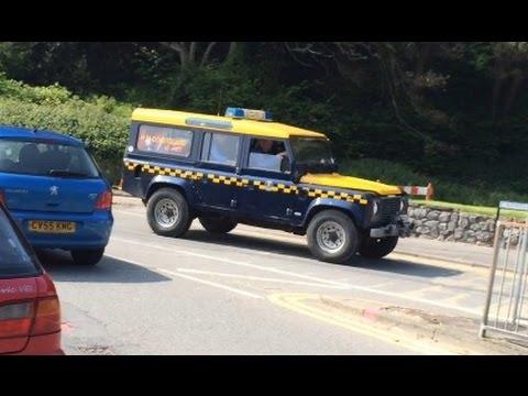 Rare Hm Coastguard Responding Land Rover Defender Youtube