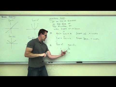 Intermediate Algebra Lecture 8.3:  Study of Piecewise Functions and Basic Translations of Graphs