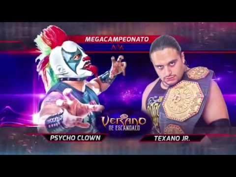 Lucha Por El Megacampeonato Texano Jr (C) Vs Psycho Clown (R
