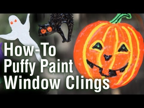 How To Make Window Clings And Decals Using Puffy Paint Youtube