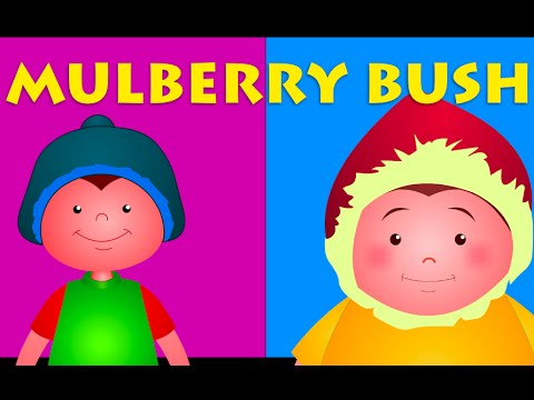 Here We Go Round The Mulberry Bush | Five Little Monkeys And More