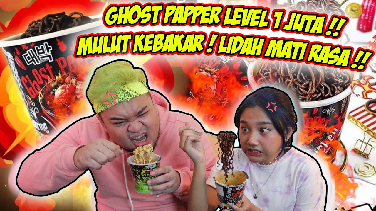 DISIKSA GHOST PEPPER LEVEL 1.000.000 !! MULUT KEBAKAR!! WITH @Alikka Kalistha