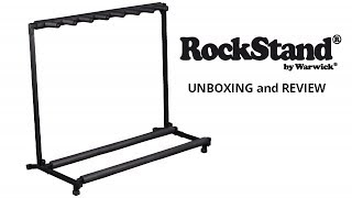 ROCKSTAND BY WARWICK MULTIPLE GUITAR RACK STAND 7 UNBOXING and REVIEW - ALVIN DE LEON (2019)