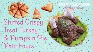 Krispie Treat Turkey and Thanksgiving Petit Fours | Genius Kitchen