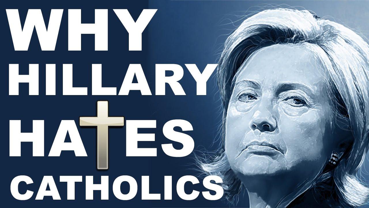 Image result for hillary hates catholics
