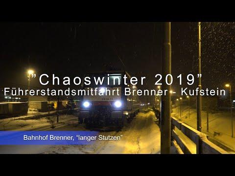 """""""Schneechaos"""" Anfang 2019 - Führerstandsmitfahrt Brenner - Kufstein bei starkem Schneefall"""