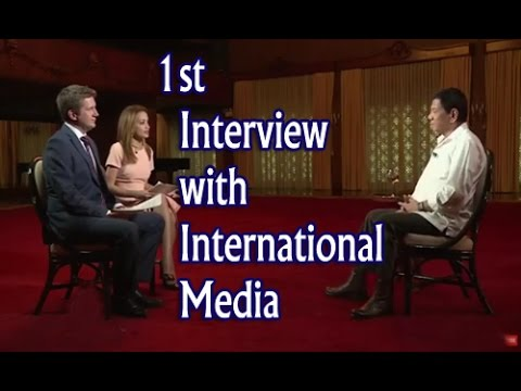 President Duterte 1st Interview with International Media (Face to Face)