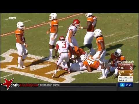 Malik Jefferson Texas LB vs Oklahoma