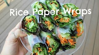 Veggie Filled Rice Paper Wraps | EASY VEGAN MEAL IDEA