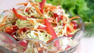 Салат из молодой капусты с овощами Просто Вкусно и полезно
