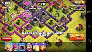 Trick cara merampok pada game COC dengan pasukan yang minim.