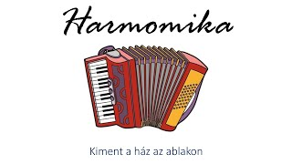 Hangszer ovi - Kiment a ház az ablakon (harmonika) / Hungarian folk children song with animals