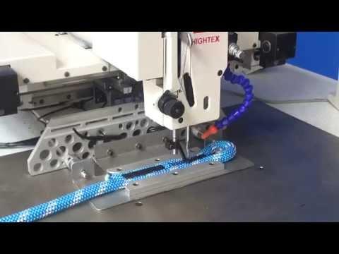 Maquina de coser para hacer cuerda kernmantle con ojales