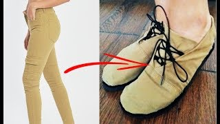 RECICLAR JEANS - ZAPATOS DE JEANS VIEJOS - DIY: REUSE/RECYCLE OLD JEANS - TRANSFORM - CLOTHES