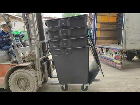 Контейнер для мусора модернизированный. Объем — 1.1 м3
