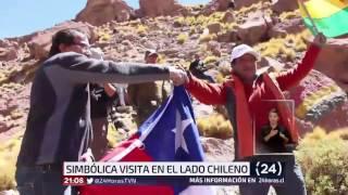 Evo Morales visita el río Silala y anuncia nueva campaña por río Lauca