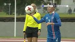 Frauenfussball WM 2019 Qualifikation Island Deutschland 1  Halbzeit
