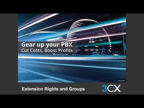 EXTENSION GROUPS & RIGHTS V15.5