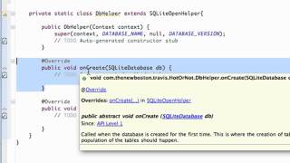 Android Application Development Tutorial   113   SQLite class implementing SQLiteOpenHelper