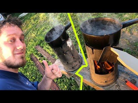 Самодельная походная печка | Готовим на огне | Уют over9000