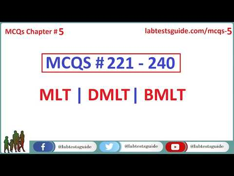 221 - 240 MCQ's and their Answers  For Laboratory Technicians and Technologists