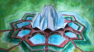 drawing lotus temple