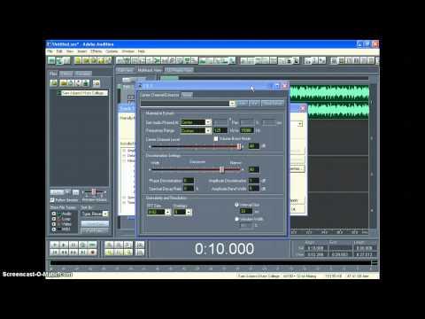 Creating Karaoke Tracks Using Adobe Audition 1.5