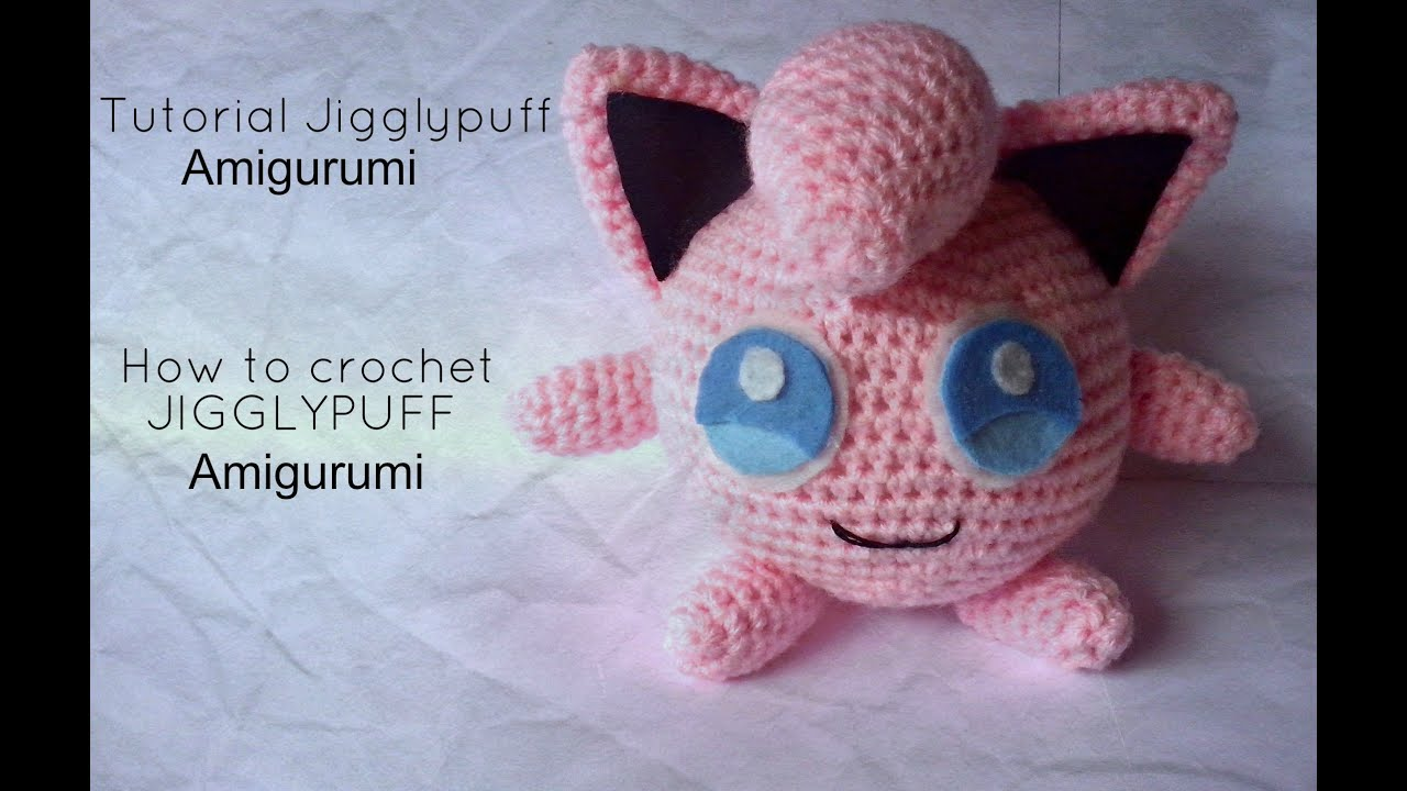 Amigurumi Tutorial Pokemon : Tutorial Jigglypuff Amigurumi HOW TO CROCHET JIGGLYPUFF ...