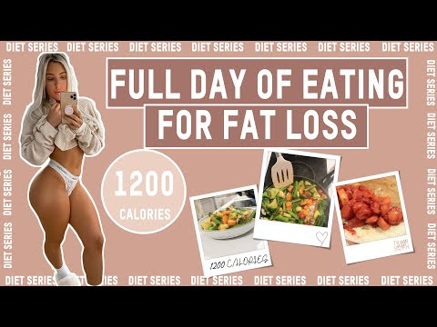 FULL DAY OF EATING 1200 CALORIES | Fat loss + dieting [Diet Series Ep. 9]