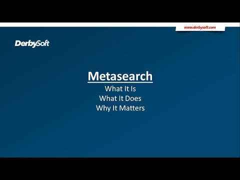 What Is Metasearch?