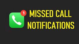 Missed calls notification issue FIX !