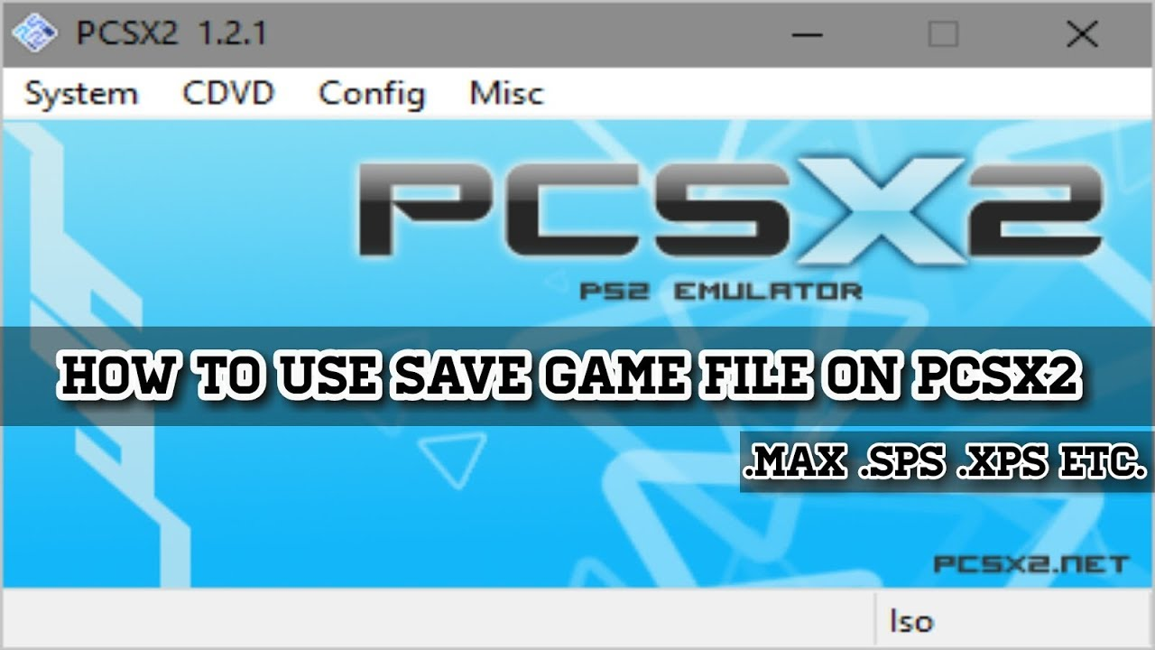 how to put a saved game on pcsx2