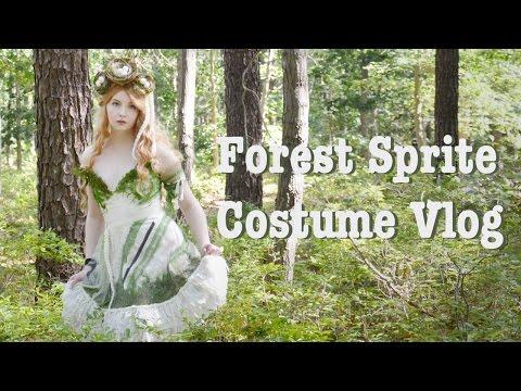 Making a Forest Sprite Costume, Vlog