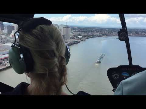 Helicopter view of the Mississippi River