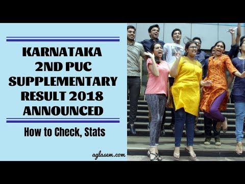 Karnataka 2nd PUC Supplementary Result 2018 Announced   How to Check, Stats