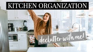 Kitchen Organization & Clean Out! DECLUTTER WITH ME! | Kendra Atkins