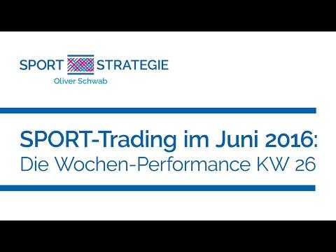 SPORT-Trading im Juni 2016 - Die Wochen-Performance KW 26