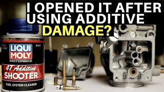 I OPENED MY CARBURETOR AFTER USING LIQUI MOLY FUEL SYSTEM CLEANER TVS APACHE RTR 200