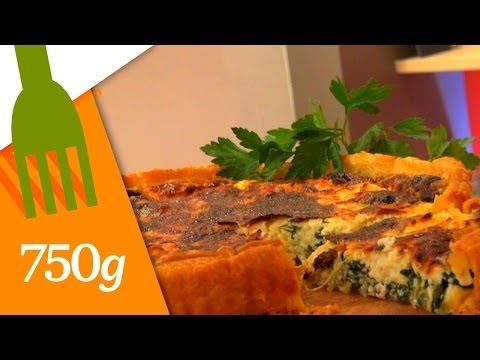 recette-de-quiche-aux-épinards---750g