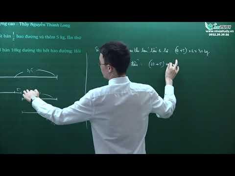 Luyện giải đề thi vào lớp 6 trường chất lượng cao - thầy Nguyễn Thành Long - Vinastudy.vn