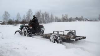Трактор т25 в экстримальных условиях.(Завожу трактор после мороза -34.Катаюсь по глубокому снегу.Раскапываю сено из под снега., 2017-01-16T19:48:06.000Z)