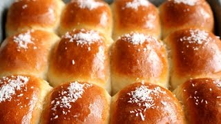 How To Make Super Soft and Moist Chinese Bakery Coconut Buns | Milk Bread | 椰蓉麵包的詳細做法
