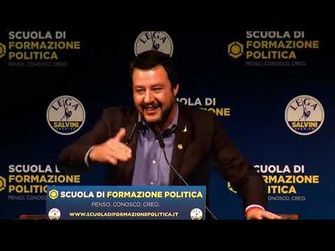 MATTEO SALVINI in diretta dalla Scuola di Formazione politica della Lega (MILANO, 11.11.2018)