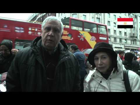 Egyptians hand letter into 10 Downing Street London   22 2 2015