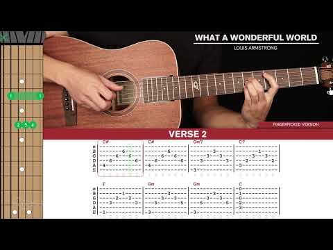 What A Wonderful World Guitar Cover Louis Armstrong 🎸 Tabs + Chords 