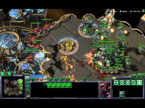 4Base Opening vs 2-Base Roach Pressure - Starcraft 2 HotS
