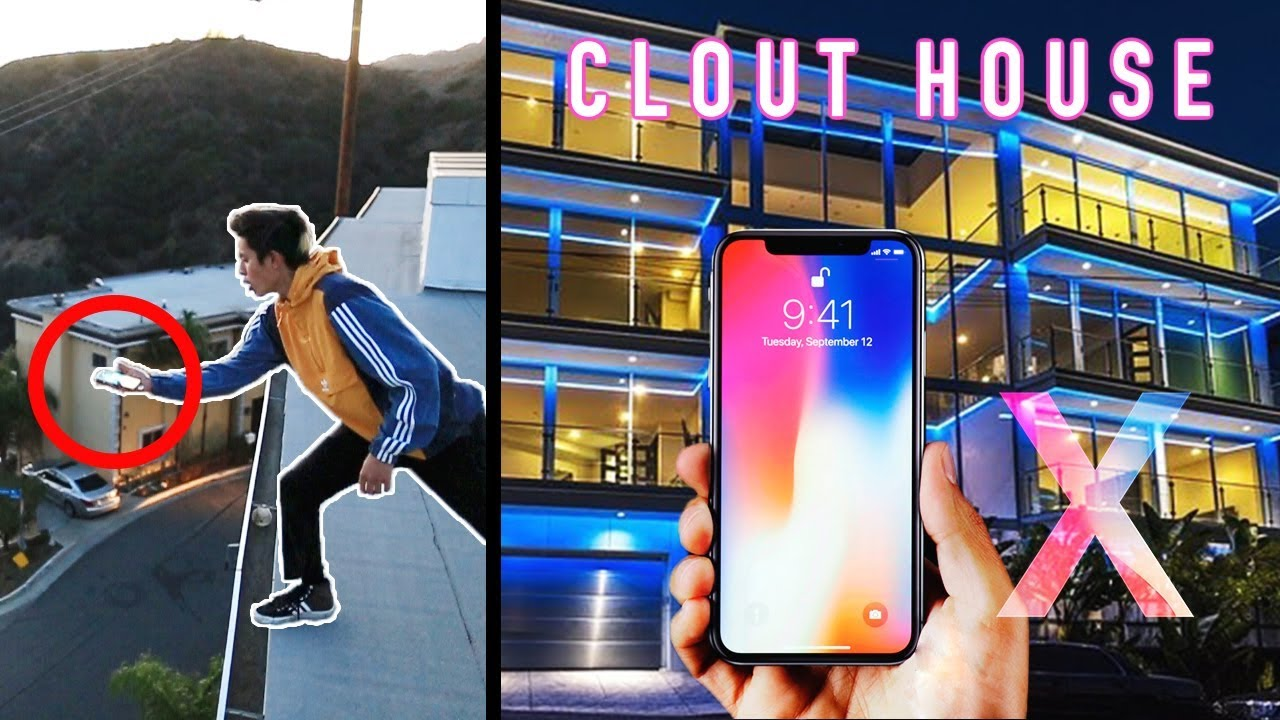 iphone-x-phone-flip-off-clout-house-roof