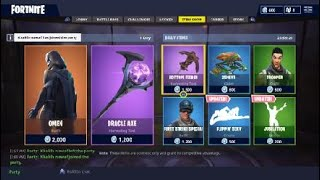 Fortnite (BR) New Skin Omen And New Oracle Axe